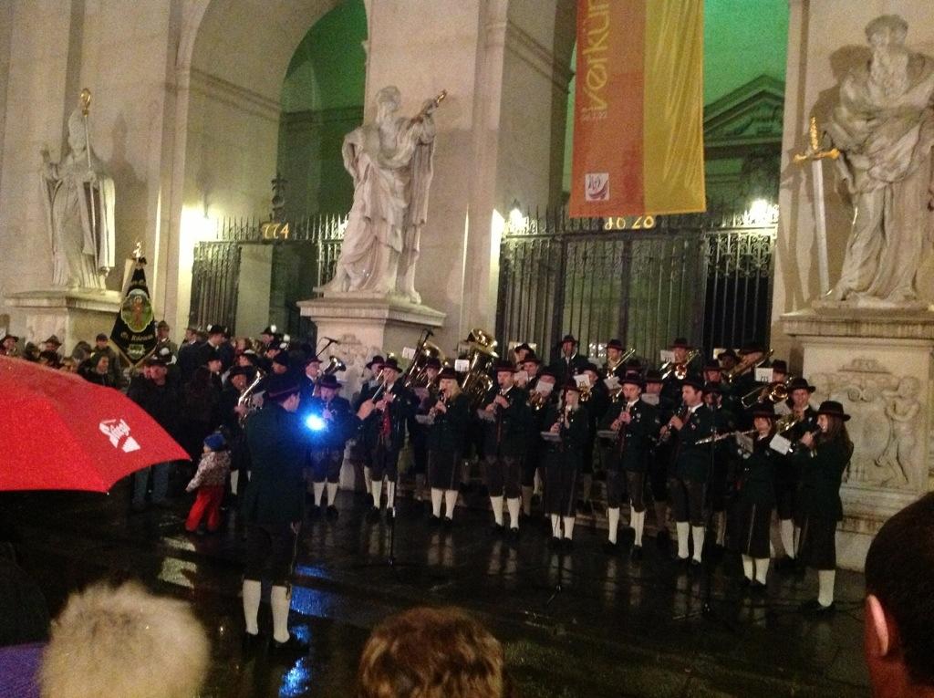 Concert in front of the Dom, Salzburg, Austria